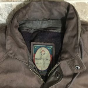 Members Only Jackets & Coats - Members Only Brown Bomber Jacket Leather Mens Sz M